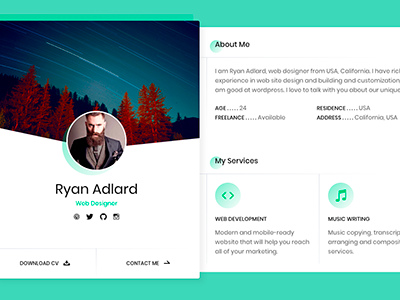 Ryan vcard resume cv template virtual business card other ryan vcard resume cv template virtual business card cheaphphosting Gallery