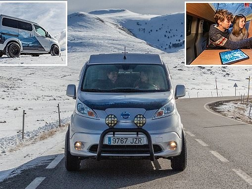 Nissan's electric Winter Camper is kitted-out for ski holidays in the future