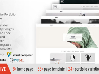 ADAM - Minimal Responsive Portfolio WordPress Theme (Creative)