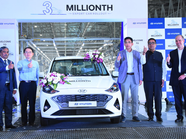 Hyundai India has produced 3 million cars for export