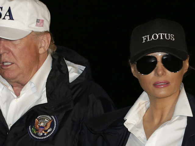 Melania Trump's Shoes Garner Attention - But It's Donald Trump's Behaviour (And $40 Hat) That Really Took The Biscuit
