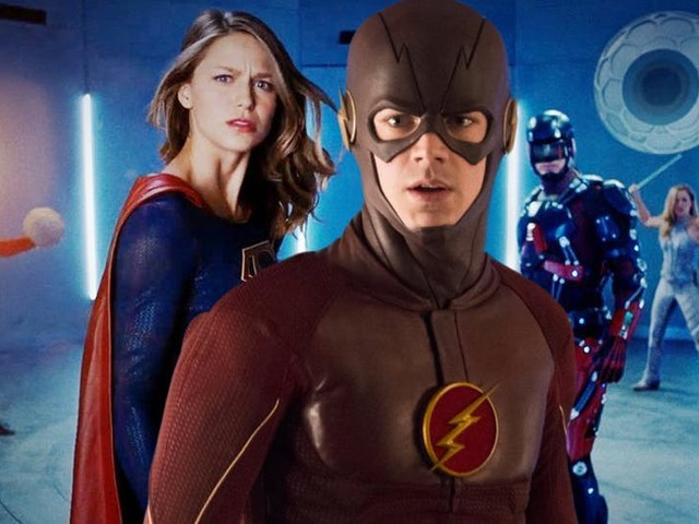 Arrowverse Crossover Set Photos Reveal Earth-X Flash's Identity