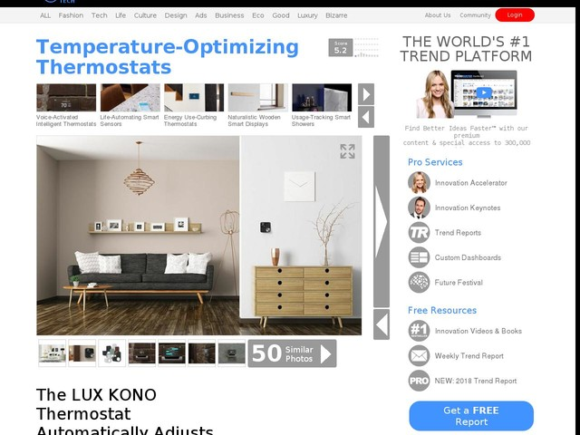Temperature-Optimizing Thermostats - The LUX KONO Thermostat Automatically Adjusts to Your Schedule (TrendHunter.com)