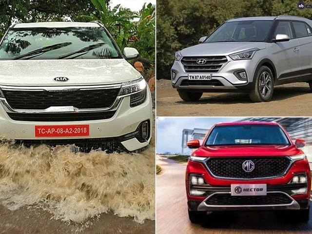 Kia Seltos vs MG Hector vs Hyundai Creta: Price Comparison