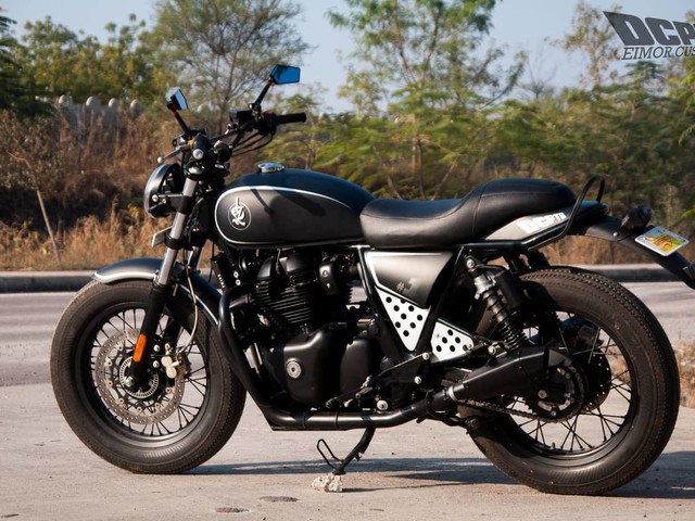 This Modified Royal Enfield Interceptor 650 Gets An Edgy Makeover