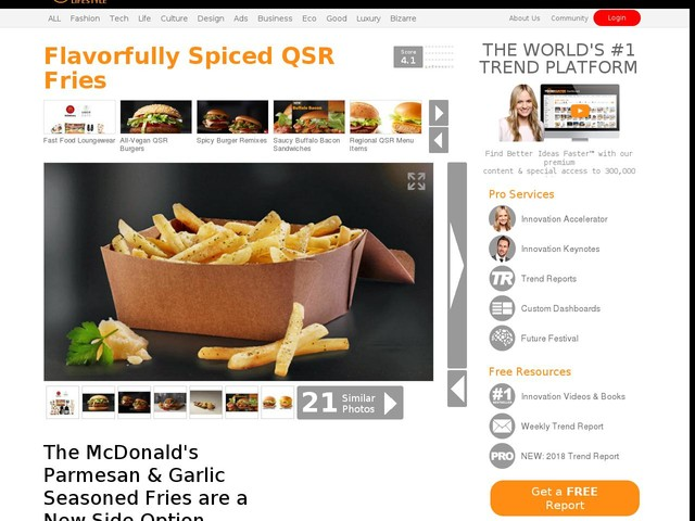Flavorfully Spiced QSR Fries - The McDonald's Parmesan & Garlic Seasoned Fries are a New Side Option (TrendHunter.com)