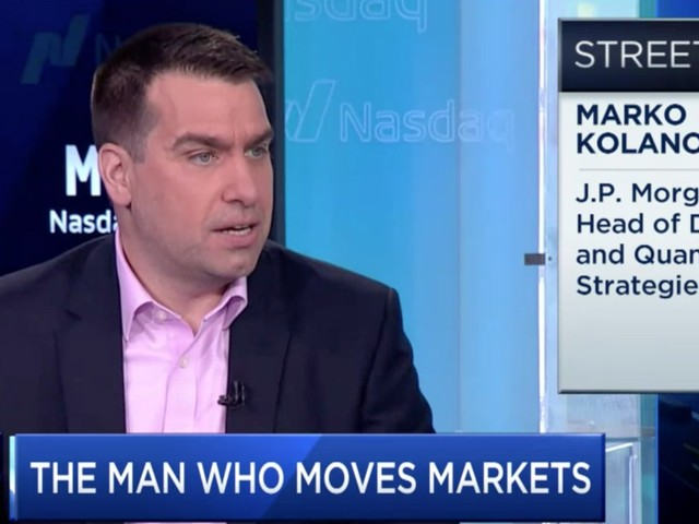 The stock market is experiencing a jarring shift seen only twice in history, and not since the tech bubble. Here's where JPMorgan's quant guru says investors should look to capitalize.