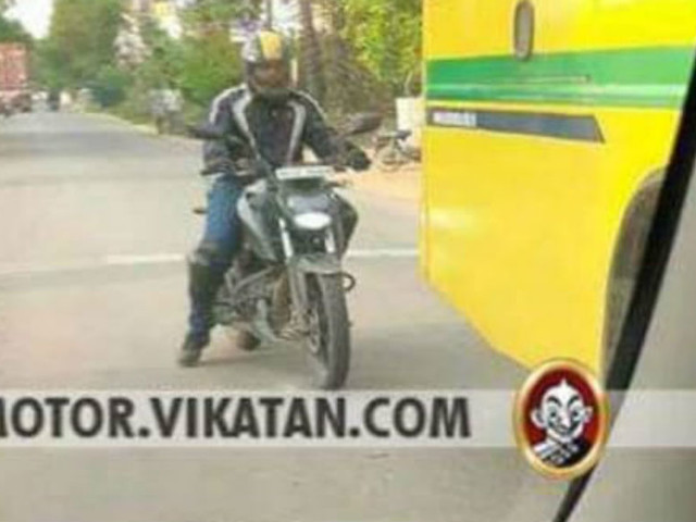 TVS Apache RTR 200 4V with LED headlamp spied