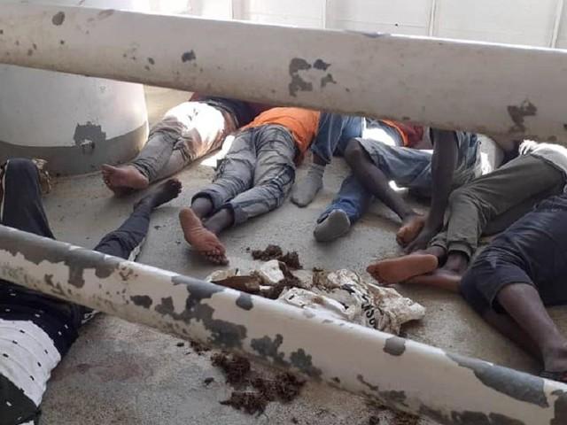 Sea-sick migrants kept in stinking animal spaces on rescue ship off Malta