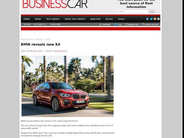 BMW reveals new X4