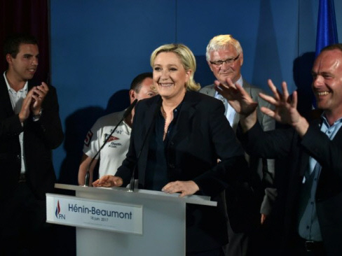 Le Pen is elected French MP but far-right party sapped