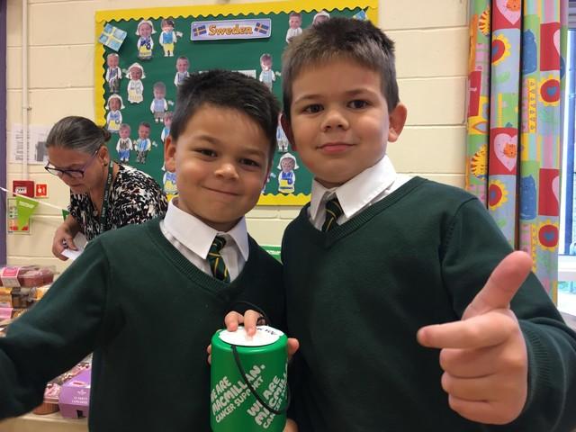 Schoolchildren's baking raises hundreds for Macmillan