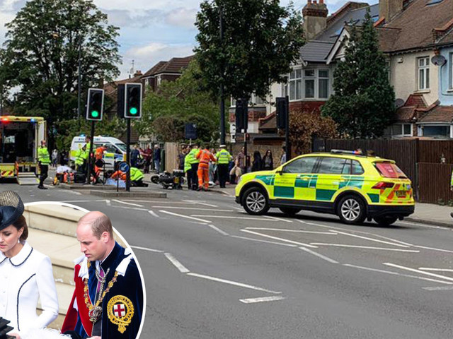 Family of OAP, 83, knocked down by Kate and Wills' royal convoy say 'she could've been killed' and slam biker for 'driving too fast'
