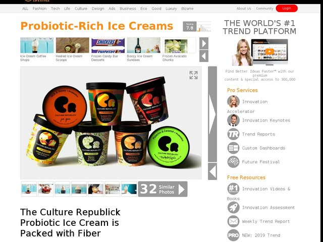 Probiotic-Rich Ice Creams - The Culture Republick Probiotic Ice Cream is Packed with Fiber (TrendHunter.com)