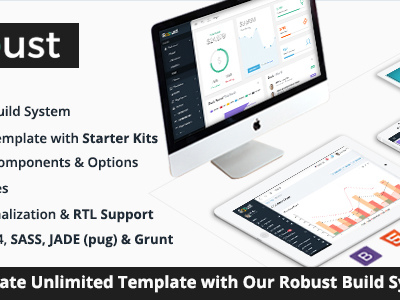 Robust - Responsive Bootstrap 4 Admin Template + Build System (Admin Templates)