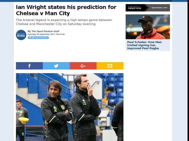 Ian Wright states his prediction for Chelsea v Man City