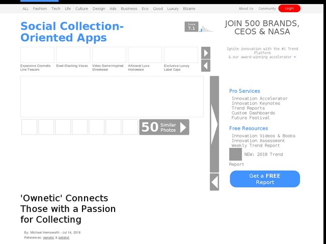 Social Collection-Oriented Apps - 'Ownetic' Connects Those with a Passion for Collecting (TrendHunter.com)