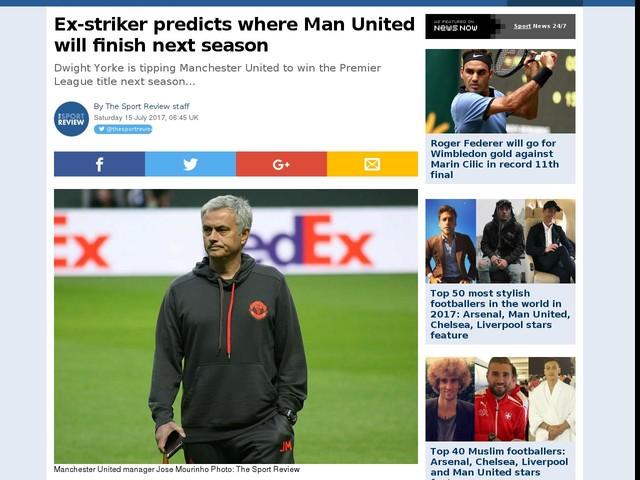 Ex-striker predicts where Man United will finish next season