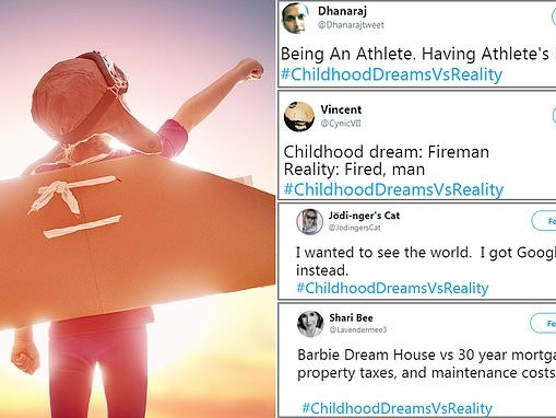 Twitter thread sees thousands revealing their 'childhood dreams' versus their reality