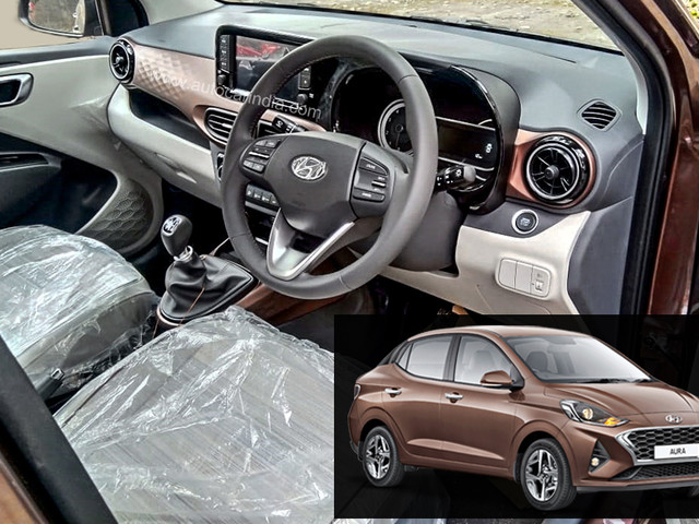 Hyundai Aura interior details surface before launch