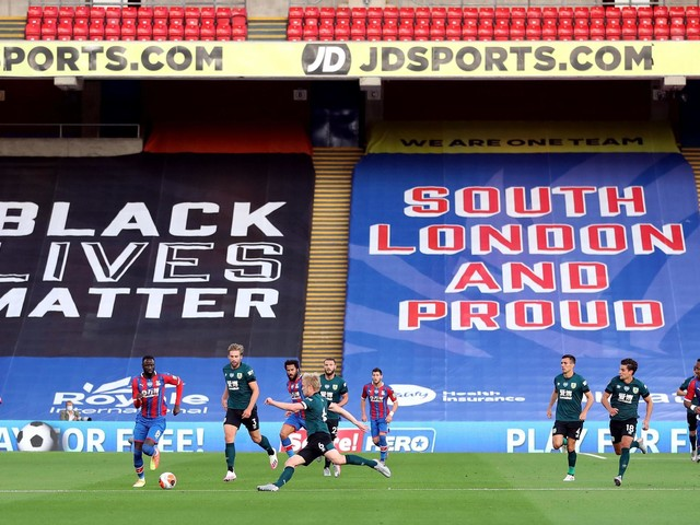 Crystal Palace distance themselves from the official Black Lives Matter campaign