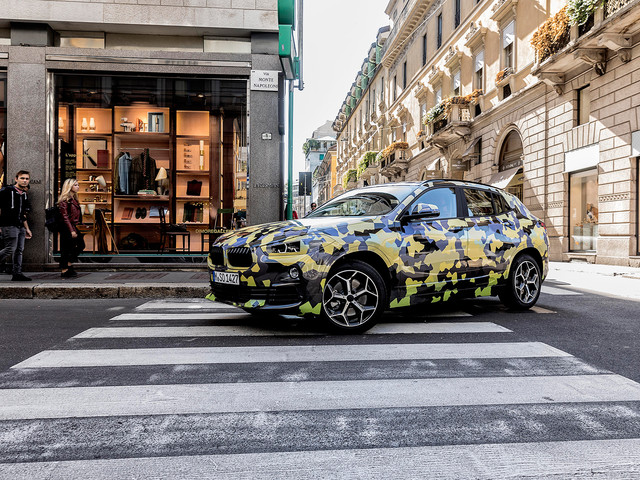 BMW X2 Teased Again During Milan Fashion Week