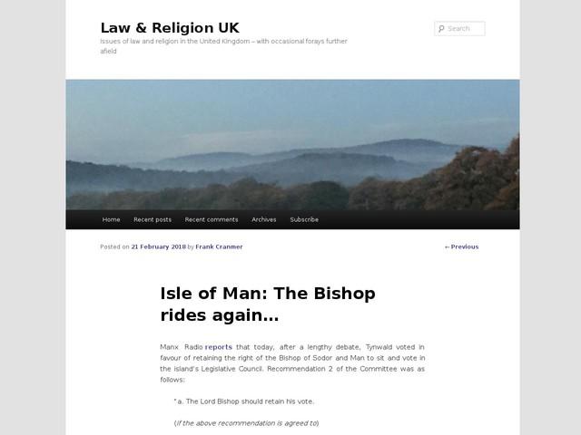 Isle of Man: The Bishop rides again…