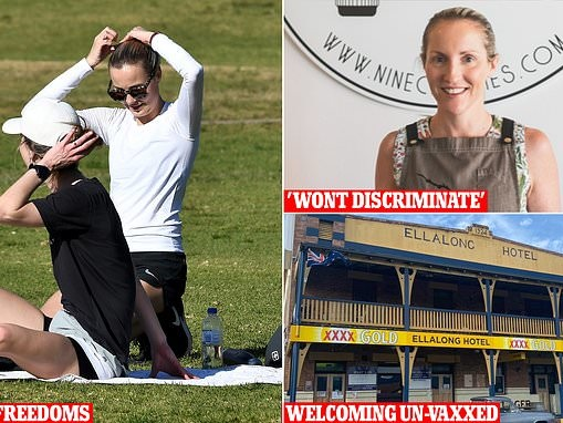 Covid-19 Australian businesses REFUSING to ban un-vaccinated as double-jabbed get set for picnic day