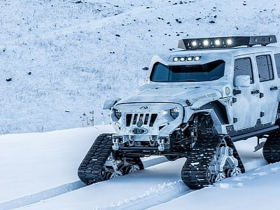 Dubbed the Arctic Frog, This Tracked Jeep Pays Tribute to an American Hero