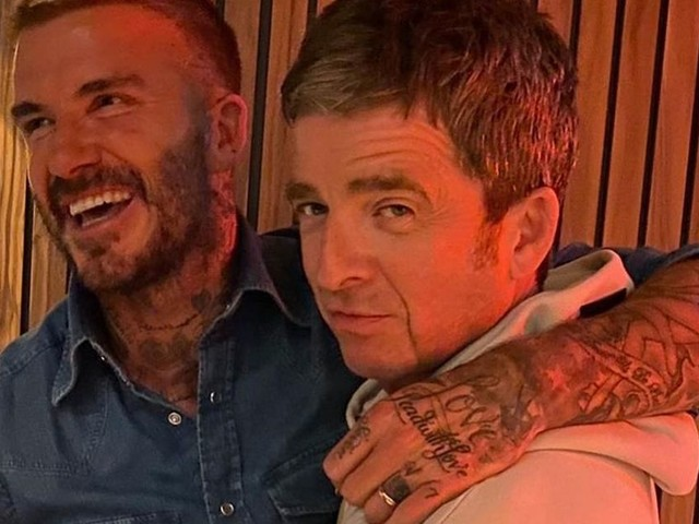 David Beckham mocks Manchester City fan Noel Gallagher after watching new Oasis documentary