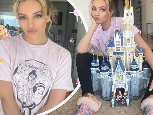 Little Mix star Jade Thirlwall completes a 400-piece LEGO castle while holed up at home in lockdown