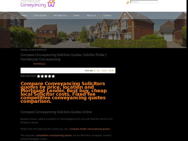 Compare Conveyancing Solicitors Quotes Solicitor Finder Homebuyer New Quote Finder