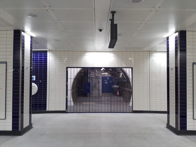 Photos – The new Bond Street tube station tunnels