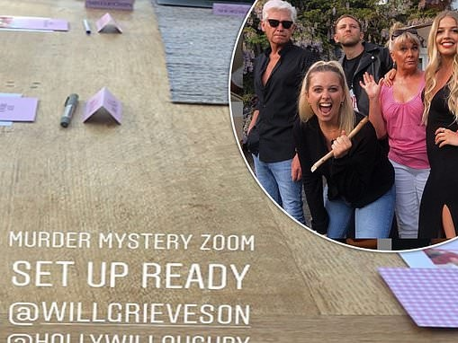 Phillip Schofield and his family enjoy virtual game night with Holly Willoughby and her husband