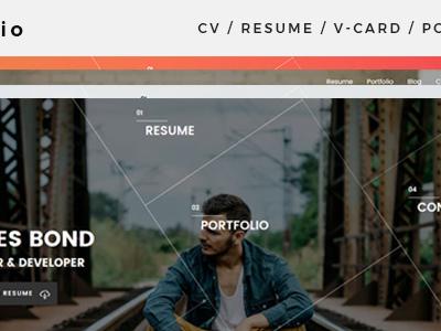 Mefolio Resume WordPress Theme (Portfolio)