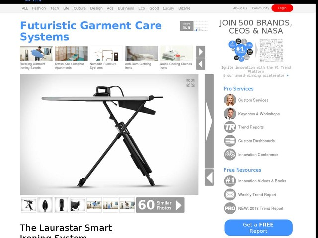 Futuristic Garment Care Systems - The Laurastar Smart Ironing System Streamlines Clothes Pressing (TrendHunter.com)