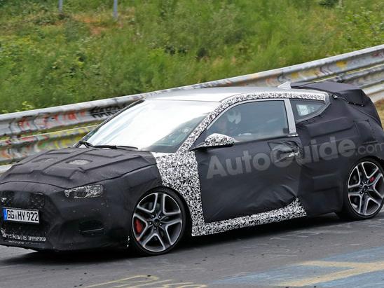 Hyundai Veloster N Spied Testing on the Nurburgring