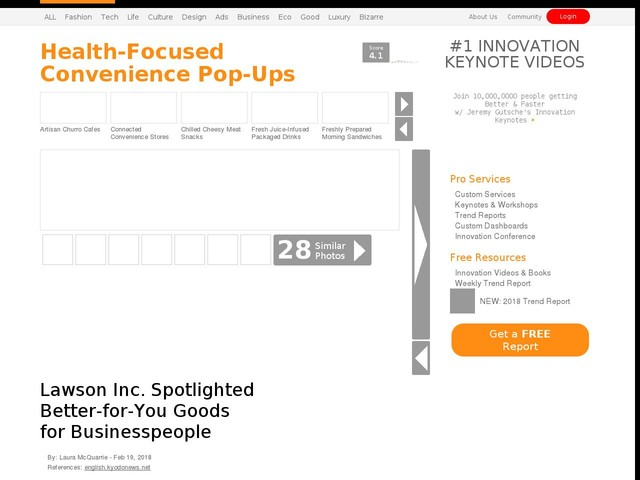 Health-Focused Convenience Pop-Ups - Lawson Inc. Spotlighted Better-for-You Goods for Businesspeople (TrendHunter.com)
