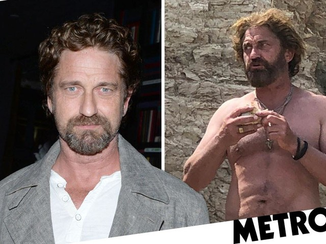 Gerard Butler unrecognisable as he emerges from lockdown with new mane of hair