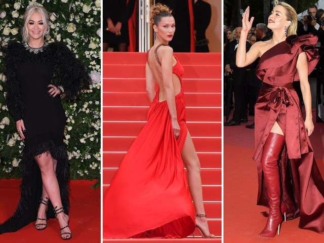 Rita Ora, Amber Heard and Bella Hadid light up the red carpet at the Cannes Film Festival