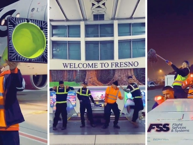 4 Fresno Airport employees were fired after they filmed a viral video goofing around with airport equipment at the end of their shift