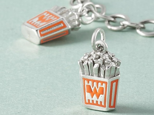 Luxe French Fry Charms - James Avery Artisan Jewelry Created a Fast Food Charm for Whataburger (TrendHunter.com)
