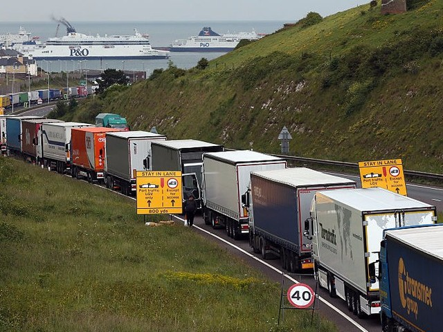 A 'catastrophic' no-deal Brexit would cause huge tailbacks at British ports
