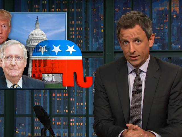 Seth Meyers Claims That if This Republican 'Hail Mary' Health-Care Bill Passes, a Hail Mary Will Be the Only Affordable Health-Care Left
