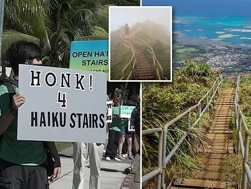 Honolulu council to destroy Hawaii's 'Stairway to Heaven' over concerns that it's too dangerous