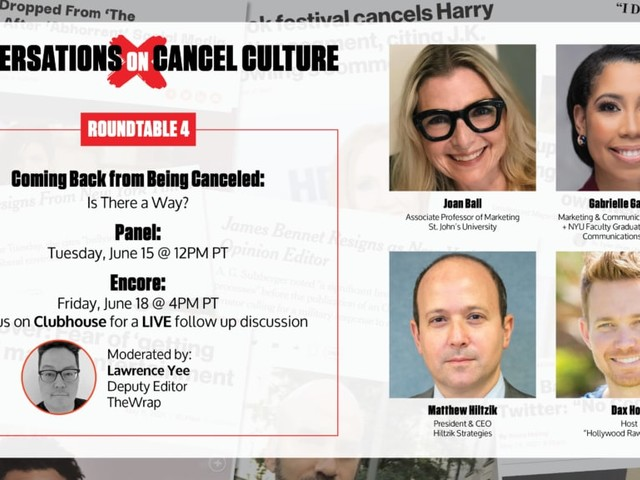 Join a Conversation on 'Coming Back from Being Canceled' with Top Academics, Crisis PR Managers and Cultural Experts