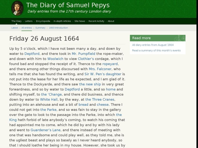 Friday 26 August 1664
