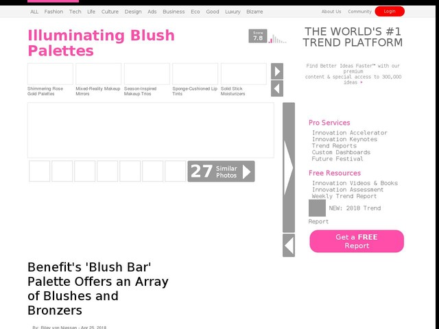 Illuminating Blush Palettes - Benefit's 'Blush Bar' Palette Offers an Array of Blushes and Bronzers (TrendHunter.com)