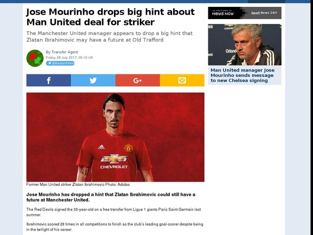 Jose Mourinho drops big hint about Man United deal for striker