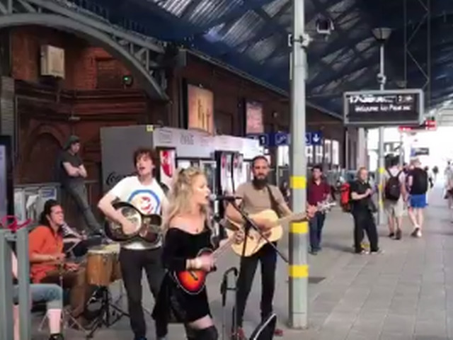Watch: An Irish Rail train from Galway was delayed but a band was on hand to save the day